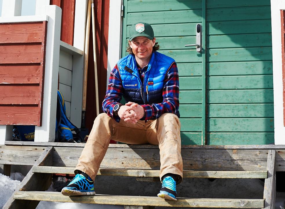 «Ich habe nie Muskelkater» scherzt Mattias vor seiner Lodge