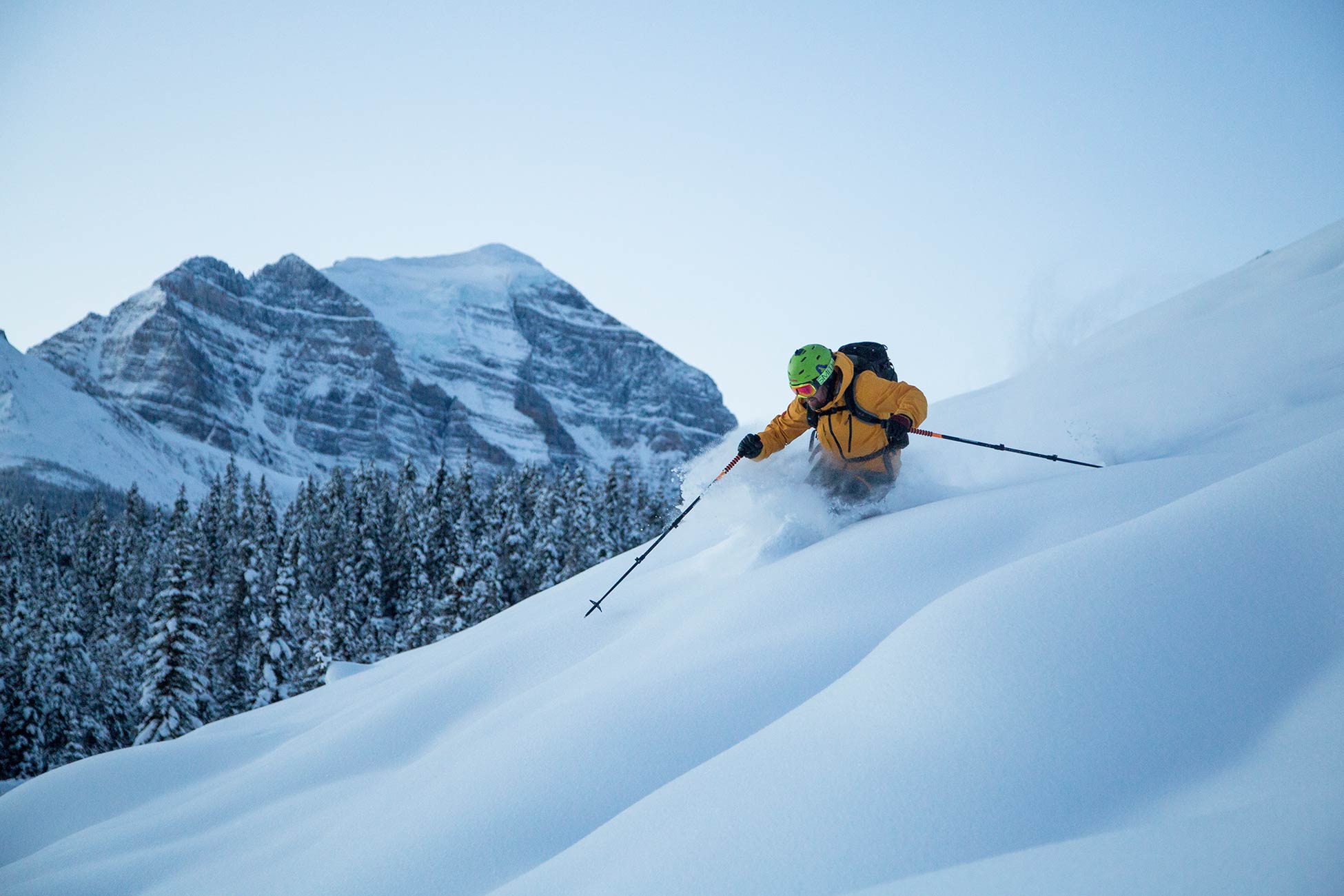 Skiing in Lake Louise. Picture by Dan Evans.