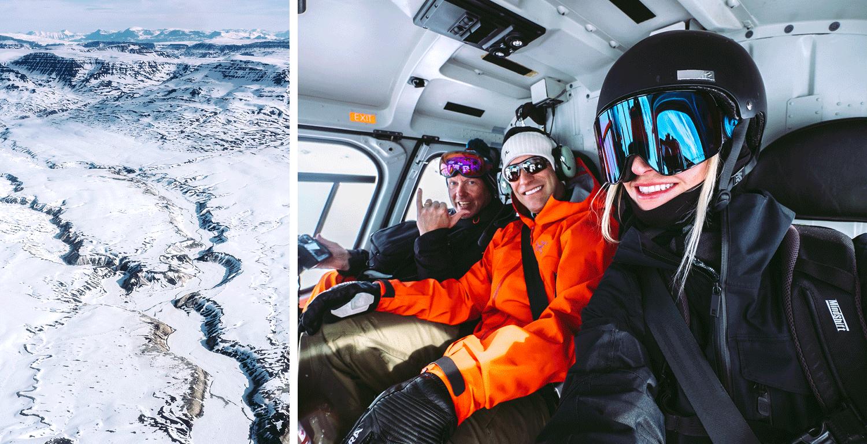 Die Disko Insel und die Travelhouse Snow Crew. ©Nicki Antognini