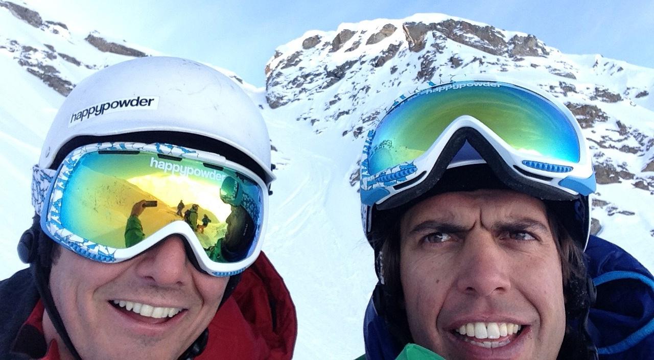 Giulio und Marco beim Powdern in der Heimat