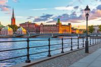 Aussicht auf die Altstadt von Stockholm