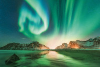 Nordlicher über den Lofoten