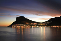 Lions's Head und Kapstadt bei Nacht