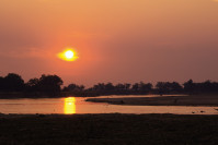 Coucher de soleil - Zambie