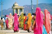 Femmes en habit traditionnel à Jaipur