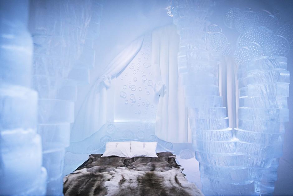 egal wie kalt es draussen auch ist im innern des eishotels herrscht eine konstante temperatur von 5 bis 8 c