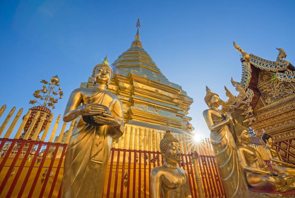 le temple Wat Phra That Doi Suthep à Chiang Mai
