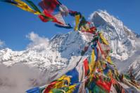 Drapeaux de prière au Népal