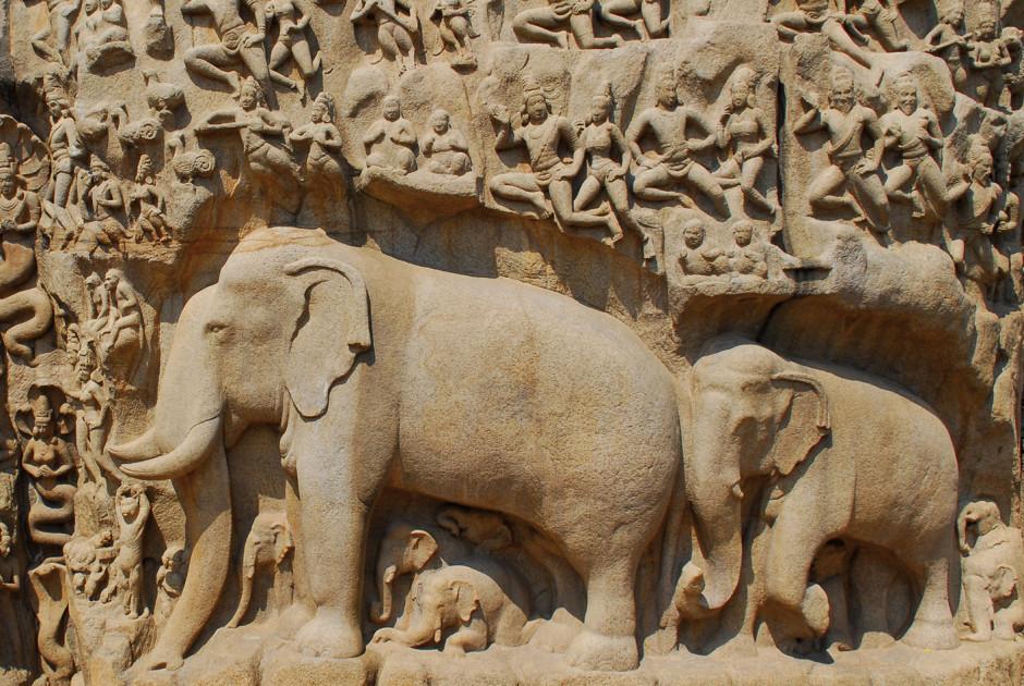 Steinrelief, Mamallapuram