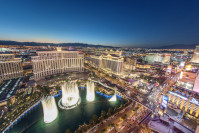 Springbrunnen vor dem Bellagio Hotel in Las Vegas