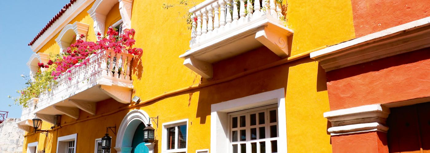 Farbige Häuser in Cartagena