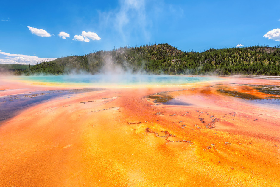 Die Thermalquelle «Grand Prismatic Spring» im Yellowstone Nationalpark