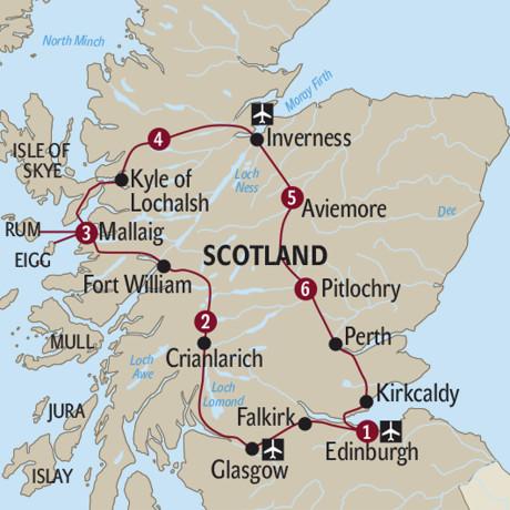 Grossbritannien Scotland By Train Ab Bis Edinburgh