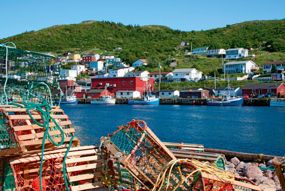 Fischerdorf in Newfoundland