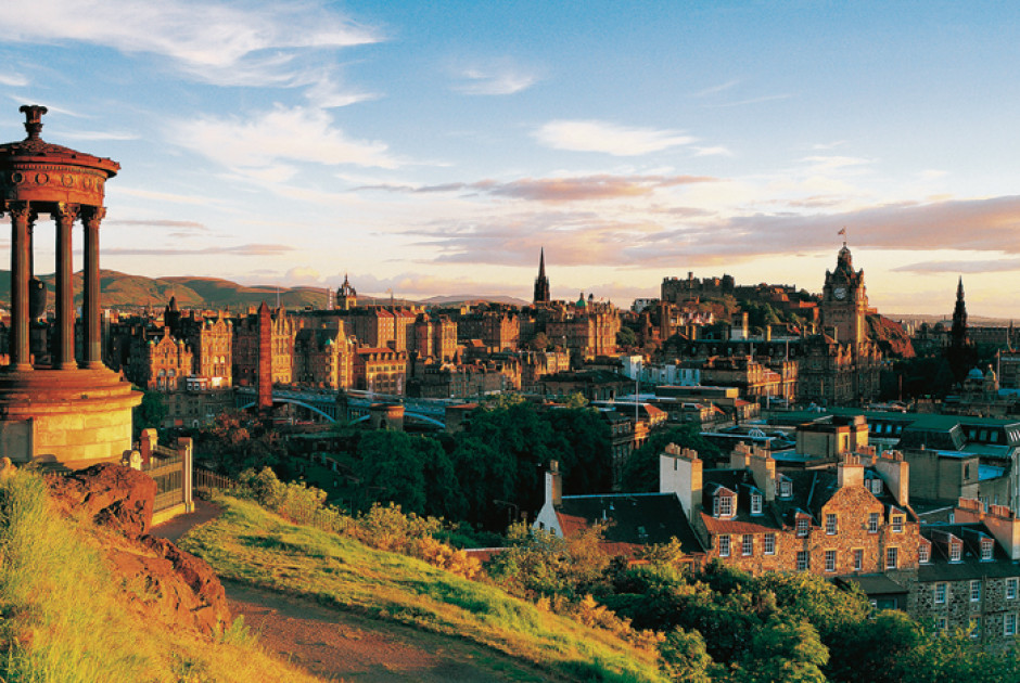 Aussicht vom Calton Hill in Edinburgh