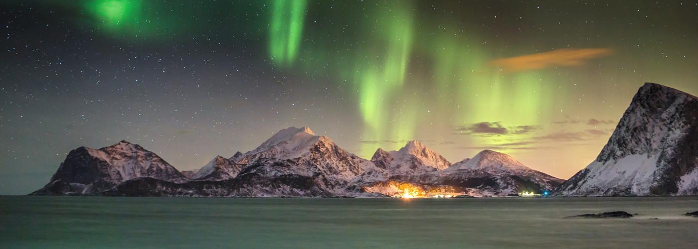 Nordlichter über Tromso