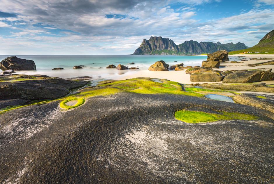 Uttakleiv Beach auf der Insel Senja