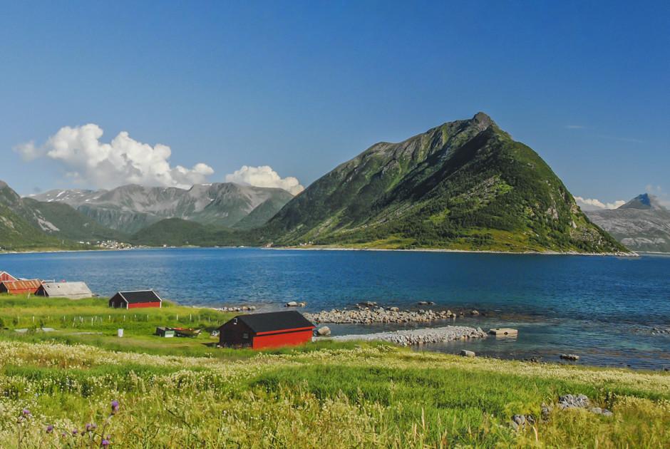 Typische Landschaft auf den Lofoten