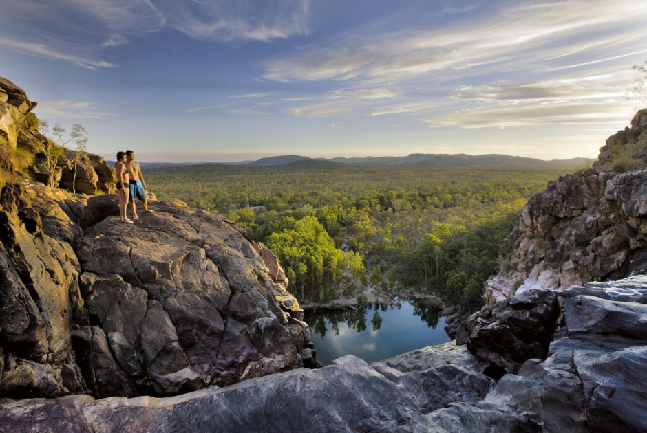 Die Gunlom Falls im Kakadu Nationalpark