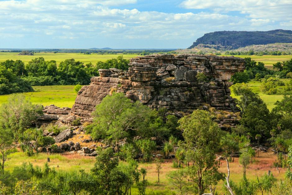 Ubirr Rock mit den berühmten Felszeichnungen der Aborigines