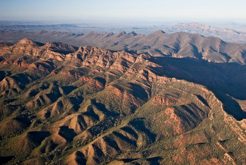 Luftaufnahme der Flinders Ranges