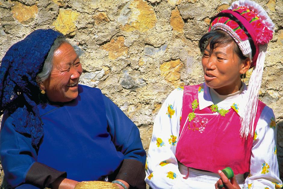 Frauen der lokalen Bai, Dali