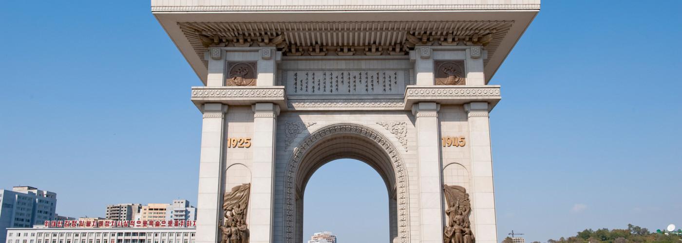 Der Triumphbogen in Pjöngjang