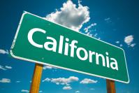 Strassenschild California