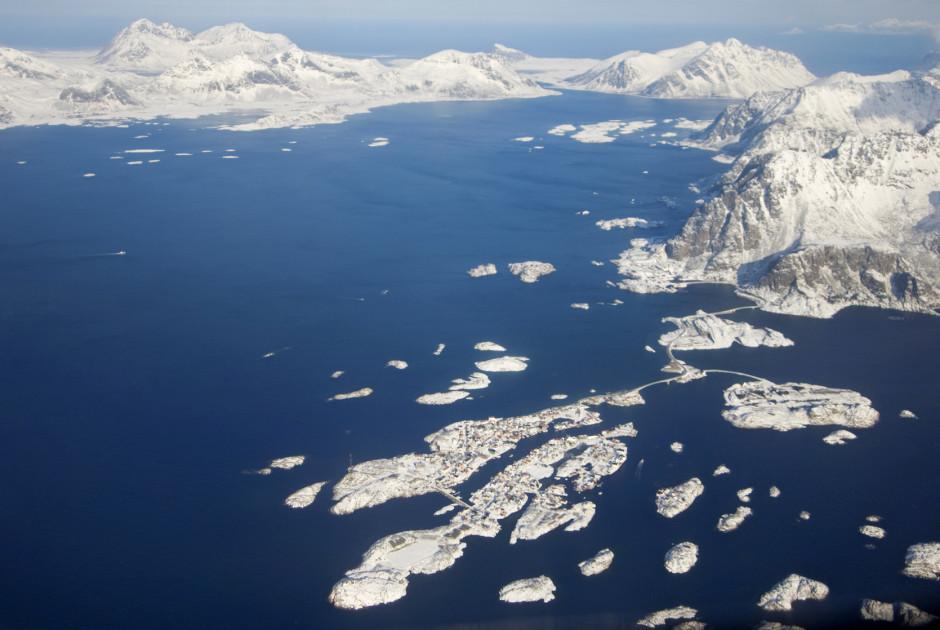 Luftaufnahme der Insel Vagan