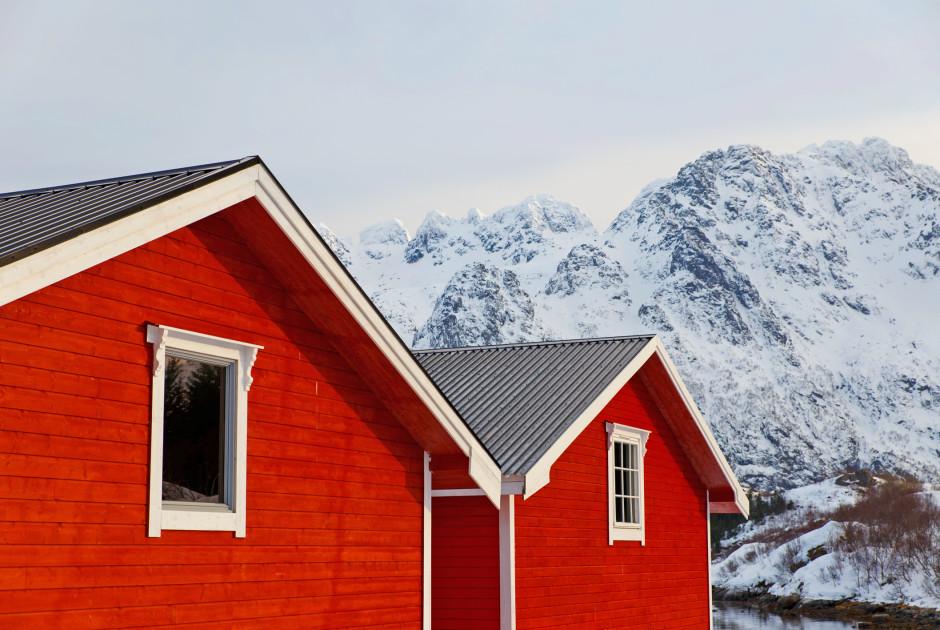 logement traditionnel aux Lofoten