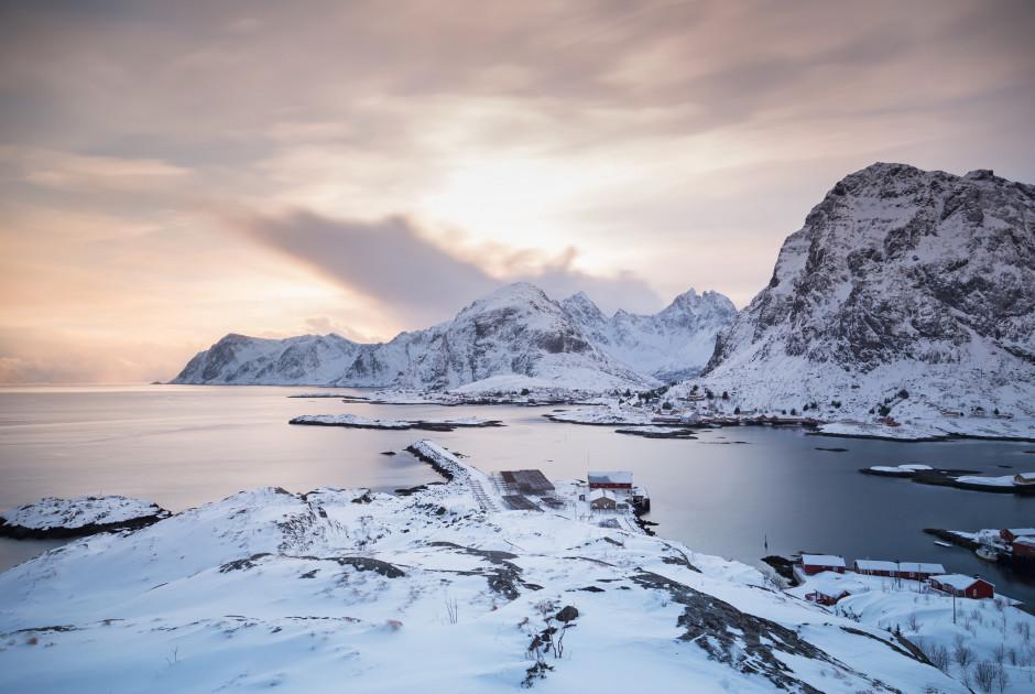 les Lofoten sous la neige