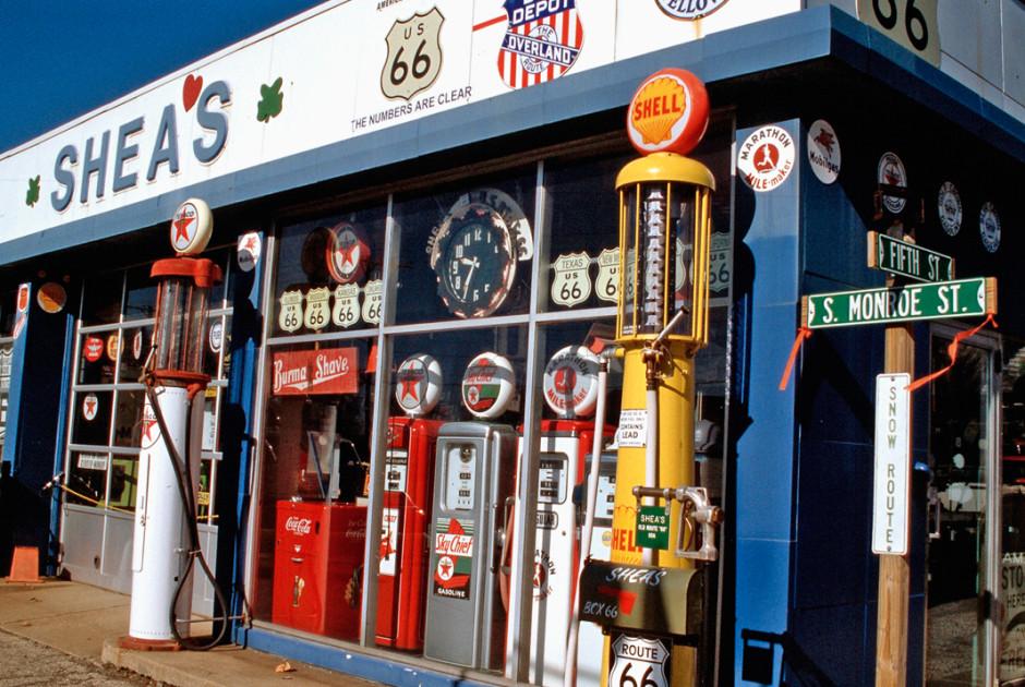 Tankstelle entlang der Route 66