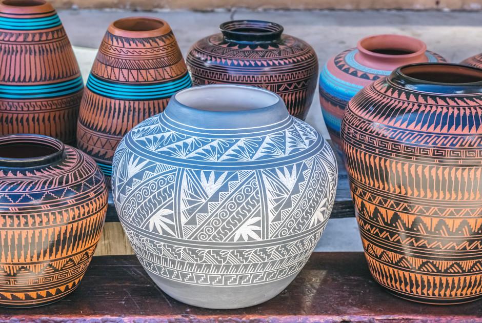 Indianische Tonwaren in Santa Fe