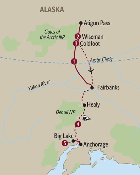 Polarkreis Alaska Karte.Usa Best Of Alaska S Winter Ab Fairbanks Bis Anchorage