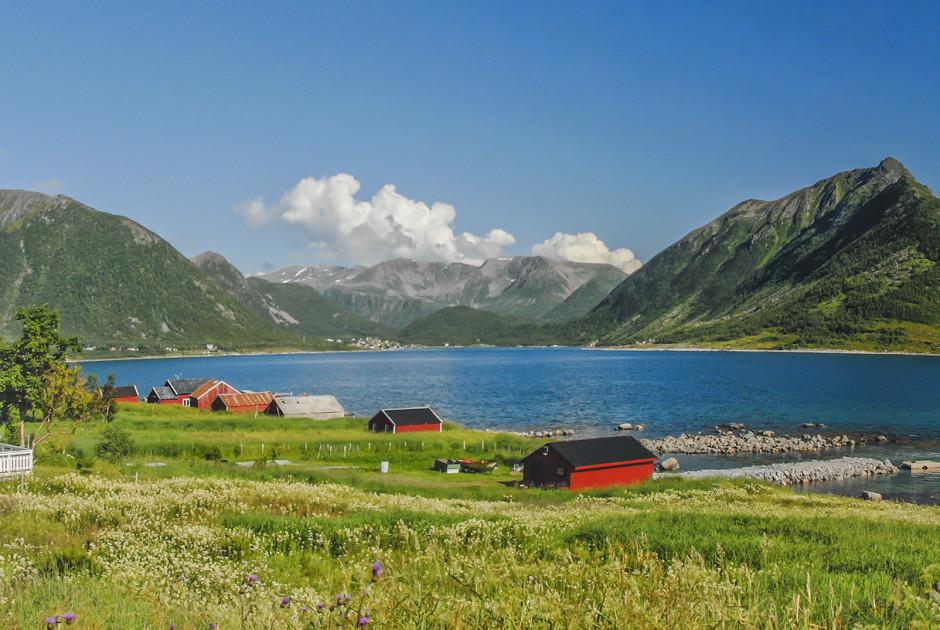 Typisches Landschaftsbild auf den Lofoten