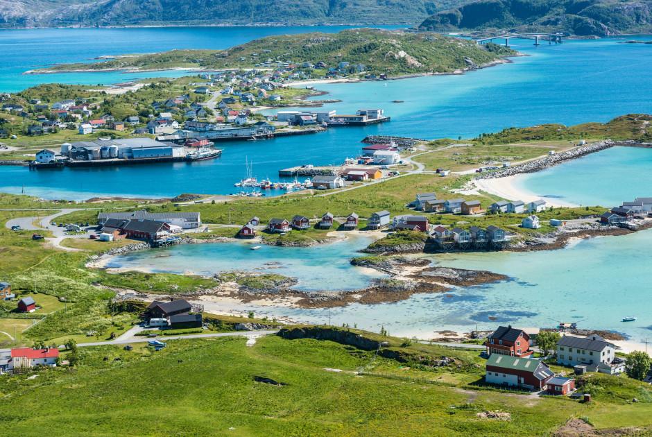 Das ehemalige Fischerdorf Sommarøy