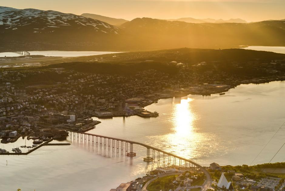 Tromsø sous le soleil de minuit