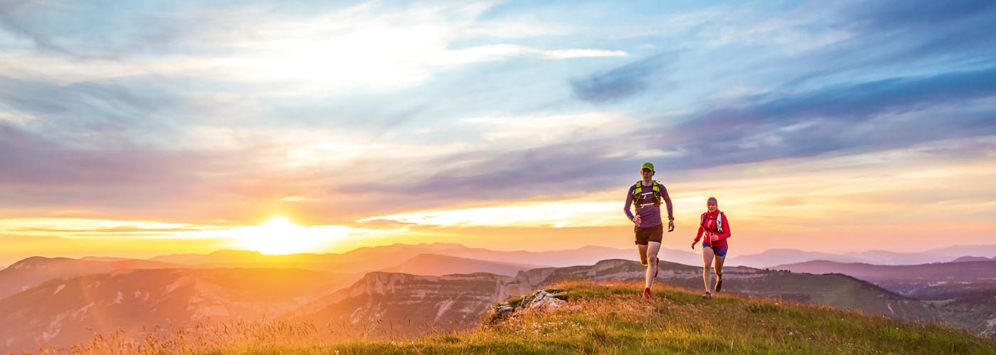 Trail-Runnig im Sonnenuntergang