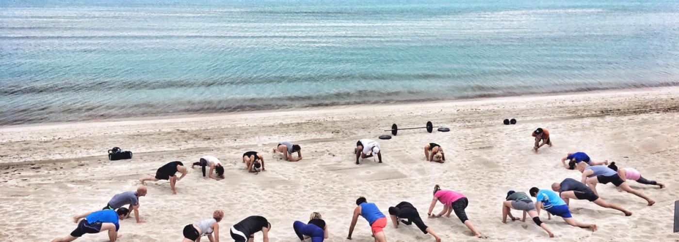 Sport am Strand von Mallorca