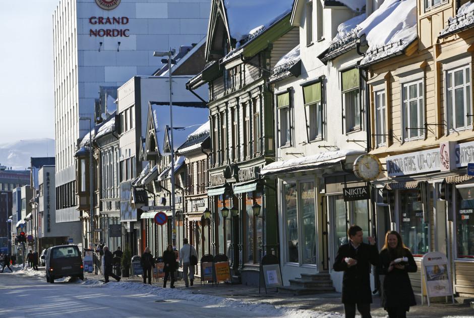 Innenstadt von Tromsø