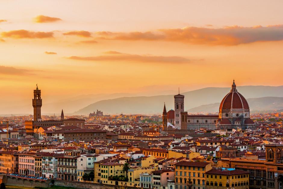 Aussicht über Florenz in der Toskana