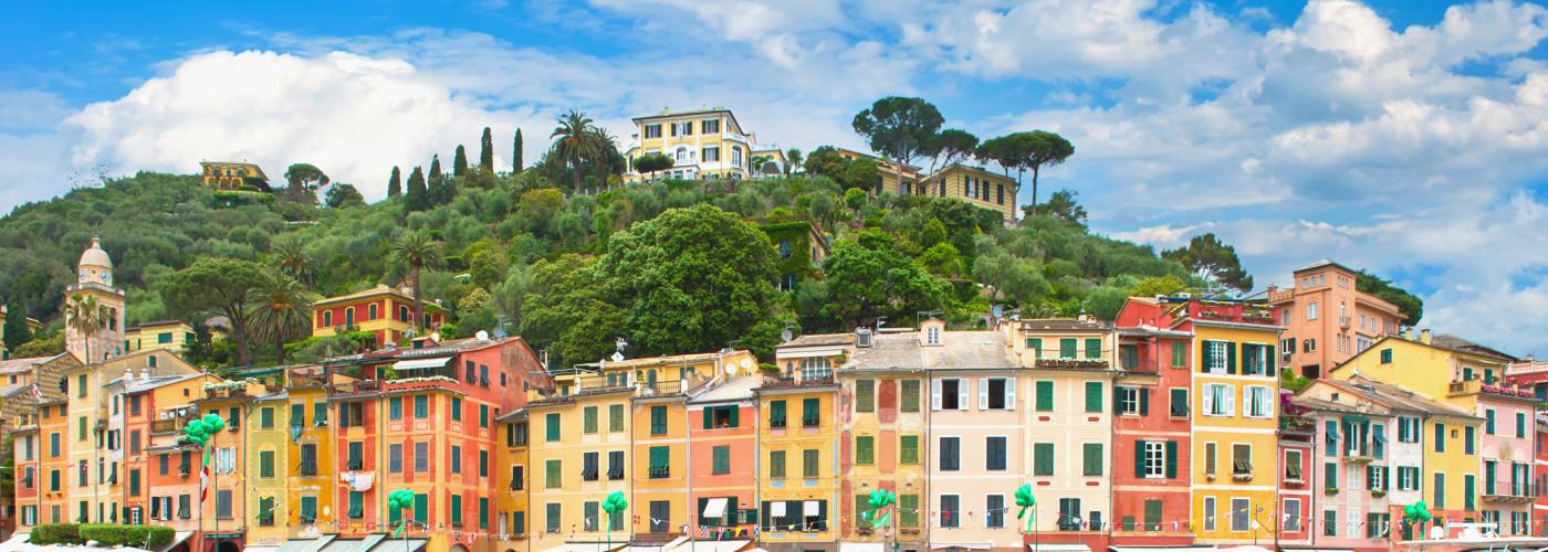 Sicht auf Portofino