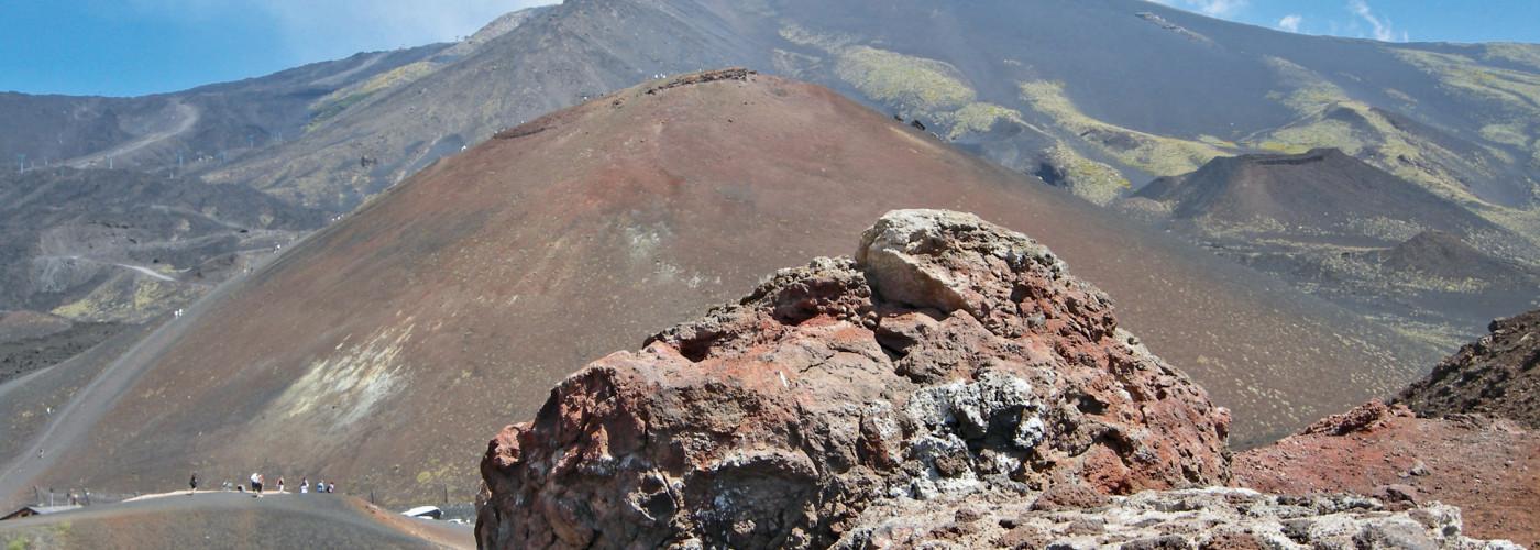 Eindrückliche Vulkanlandschaft auf dem Ätna
